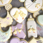 Twin Birds, Baby Shower, Made In Melbourne, Cookies made to order, decorated cookies, favours as cookies, Vintage Chic