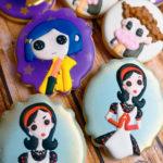 Coraline themed cookies