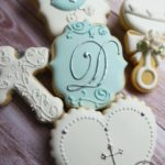 Cake In The Afternoon - Made In Melbourne - Teal Classic Christening Cookie