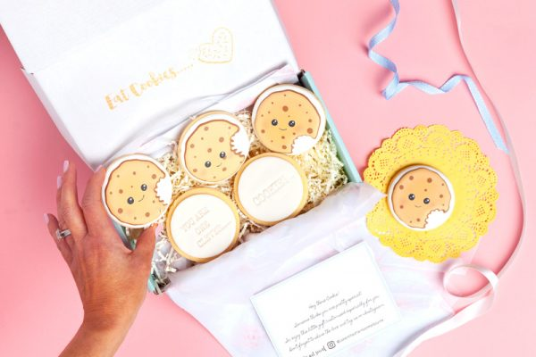 You're-One-Clever-Cookiegift box, cookie gift box, send cookie gift hamper, shipped Australia wide, send cookie hamper, cookies as gifts, cookie bouquet