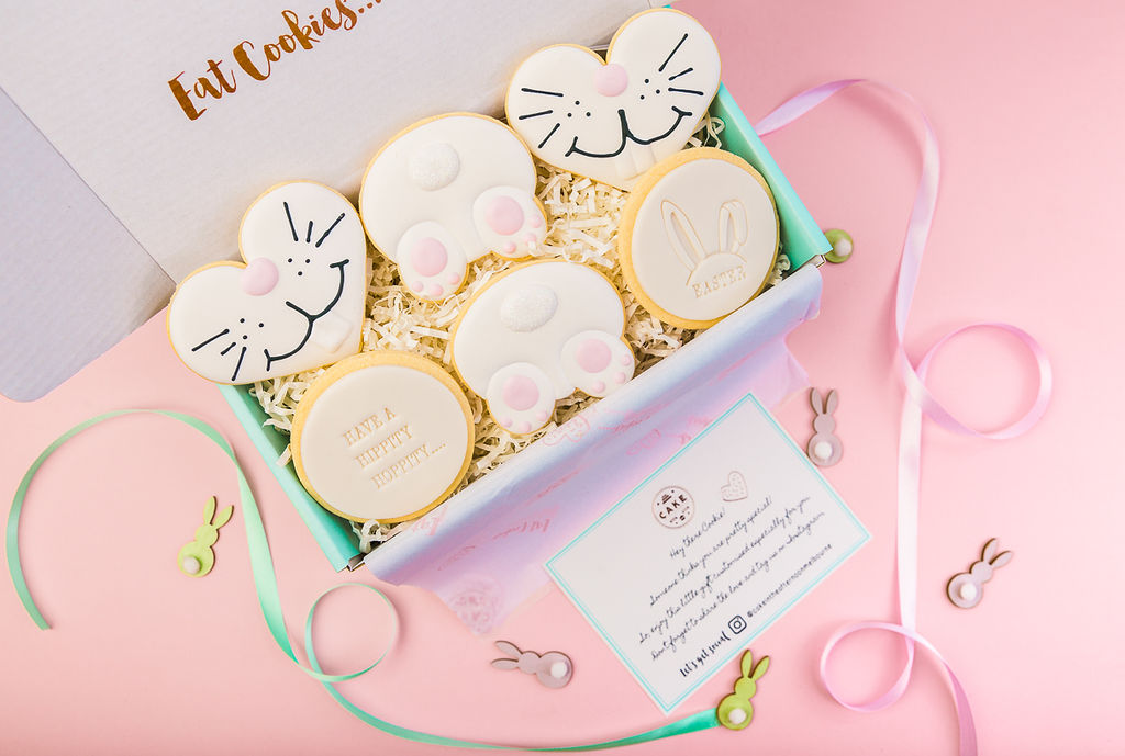 EASTER COOKIES ROYAL ICING COOKIES -LUXURY COOKIE GIFT BOX - MADE IN MELBOURNE SHIPPED AUSTRALIA WIDE